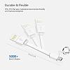 Cortrea Micro USB Gri Kısa Data Kablosu 9cm - Resim 4
