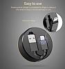 Cortrea Micro USB Makaralı Kısa Data Kablosu 1m - Resim 2