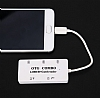Cortrea Micro USB Beyaz Hub ve Kart Okuyucu - Resim 1