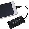 Cortrea Micro USB Siyah Hub ve Kart Okuyucu - Resim 3