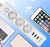 Cortrea Multi Plug 3lü Priz ve 3lü USB Port 2m - Resim 5