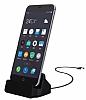 Cortrea Samsung Galaxy Note 4 Micro USB Masaüstü Dock Siyah Şarj Aleti - Resim 1