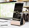 Cortrea Samsung Galaxy Note 4 Micro USB Masaüstü Dock Siyah Şarj Aleti - Resim 6