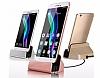 Cortrea Samsung Galaxy S7 Edge Micro USB Masaüstü Dock Siyah Şarj Aleti - Resim 5
