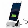 Cortrea Sony Xperia XZs Type-C Masaüstü Dock Siyah Şarj Aleti - Resim 4