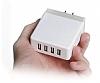 Cortrea USB 4 Port Girişli Beyaz Ev Şarj Adaptörü - Resim 2