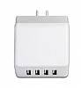Cortrea USB 4 Port Girişli Beyaz Ev Şarj Adaptörü - Resim 1
