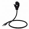 Cortrea USB Type-C Stand Özellikli Metal Kısa Siyah Data Kablosu 57cm - Resim 2