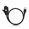 Cortrea USB Type-C Stand Özellikli Metal Kısa Siyah Data Kablosu 57cm - Resim 1
