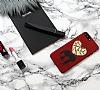 iPhone 7 Plus Couple Love Taşlı Aynalı Kılıf - Resim 2