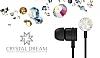 Crystal Dream Taşlı Mikrofonlu Kulakiçi Siyah Kulaklık - Resim 2