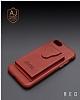 Dafoni Air Jacket iPhone 6 / 6S Cüzdanlı Kırmızı Deri Kılıf - Resim 6