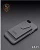 Dafoni Air Jacket iPhone 6 Plus / 6S Plus Cüzdanlı Siyah Deri Kılıf - Resim 1
