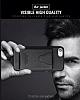 Dafoni Air Jacket iPhone 6 Plus / 6S Plus Cüzdanlı Siyah Deri Kılıf - Resim 3