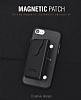 Dafoni Air Jacket iPhone 6 Plus / 6S Plus Cüzdanlı Gold Deri Kılıf - Resim 3