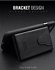 Dafoni Air Jacket iPhone 6 Plus / 6S Plus Cüzdanlı Siyah Deri Kılıf - Resim 6