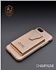 Dafoni Air Jacket iPhone 7 / 8 Cüzdanlı Gold Deri Kılıf - Resim 7