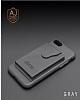 Dafoni Air Jacket iPhone 7 / 8 Cüzdanlı Siyah Deri Kılıf - Resim 1