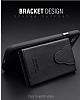 Dafoni Air Jacket iPhone 7 / 8 Cüzdanlı Siyah Deri Kılıf - Resim 3
