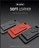 Dafoni Air Jacket iPhone 7 / 8 Cüzdanlı Siyah Deri Kılıf - Resim 4