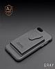 Dafoni Air Jacket iPhone 7 Plus / 8 Plus Cüzdanlı Siyah Deri Kılıf - Resim 1