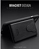 Dafoni Air Jacket iPhone 7 Plus / 8 Plus Cüzdanlı Kahverengi Deri Kılıf - Resim 2