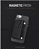 Dafoni Air Jacket iPhone 7 Plus / 8 Plus Cüzdanlı Siyah Deri Kılıf - Resim 2