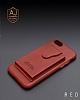 Dafoni Air Jacket iPhone 7 Plus / 8 Plus Cüzdanlı Kırmızı Deri Kılıf - Resim 5