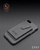 Dafoni Air Jacket iPhone X / XS Cüzdanlı Kahverengi Deri Kılıf - Resim 1
