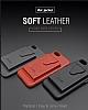 Dafoni Air Jacket Samsung Galaxy S8 Cüzdanlı Kırmızı Deri Kılıf - Resim 4