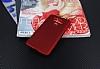 Dafoni Air Slim LG G6 Ultra İnce Mat Kırmızı Silikon Kılıf - Resim 3