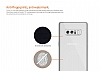 Dafoni Aircraft Samsung Galaxy Note 8 Ultra İnce Şeffaf Siyah Silikon Kılıf - Resim 4