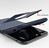 Dafoni Business Shield iPhone 7 Plus / 8 Plus Lacivert Silikon Kılıf - Resim 5