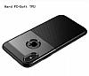 Dafoni Business Shield iPhone X Lacivert Silikon Kılıf - Resim 1