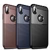 Dafoni Business Shield iPhone X Lacivert Silikon Kılıf - Resim 4