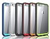 Dafoni Color Side iPhone 6 / 6S Kristal Kırmızı Kılıf - Resim 5