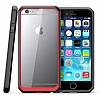 Dafoni Color Side iPhone 6 / 6S Kristal Kırmızı Kılıf - Resim 3