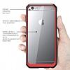 Dafoni Color Side iPhone 6 / 6S Kristal Kırmızı Kılıf - Resim 1