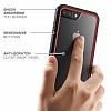 Dafoni Color Side iPhone 7 Plus / 8 Plus Kristal Pembe Kılıf - Resim 4