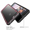 Dafoni Color Side iPhone 7 Plus / 8 Plus Kristal Pembe Kılıf - Resim 5