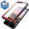 Dafoni Color Side iPhone 7 Plus / 8 Plus Kristal Pembe Kılıf - Resim 1