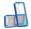Dafoni Color Side iPhone SE / 5 / 5S Kristal Mavi Kılıf - Resim 1