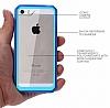 Dafoni Color Side iPhone SE / 5 / 5S Kristal Mavi Kılıf - Resim 2