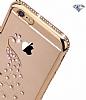 Dafoni Crystal Dream Huawei GR5 2017 Taşlı Anahtar Gold Kenarlı Silikon Kılıf - Resim 1
