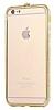 Dafoni Crystal Dream iPhone 6 / 6S Metal Taşlı Bumper Çerçeve Gold Kılıf - Resim 6