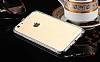 Dafoni Crystal Dream iPhone 6 / 6S Metal Taşlı Bumper Çerçeve Silver Kılıf - Resim 5