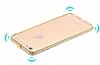 Dafoni Crystal Dream iPhone 6 / 6S Metal Taşlı Bumper Çerçeve Gold Kılıf - Resim 1