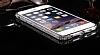 Dafoni Crystal Dream iPhone 6 / 6S Metal Taşlı Bumper Çerçeve Silver Kılıf - Resim 3