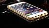 Dafoni Crystal Dream iPhone 6 / 6S Metal Taşlı Bumper Çerçeve Gold Kılıf - Resim 4