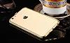 Dafoni Crystal Dream iPhone 6 / 6S Metal Taşlı Bumper Çerçeve Gold Kılıf - Resim 3